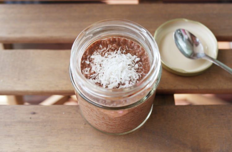 Budino di semi di chia e cacao