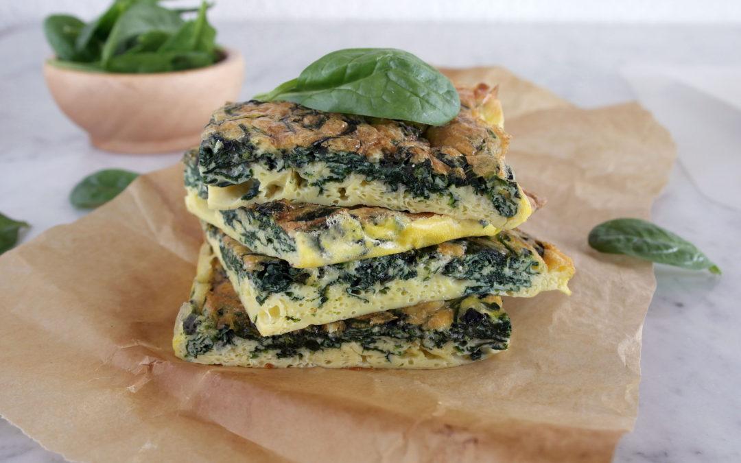 Frittata al forno con spinaci e Parmigiano