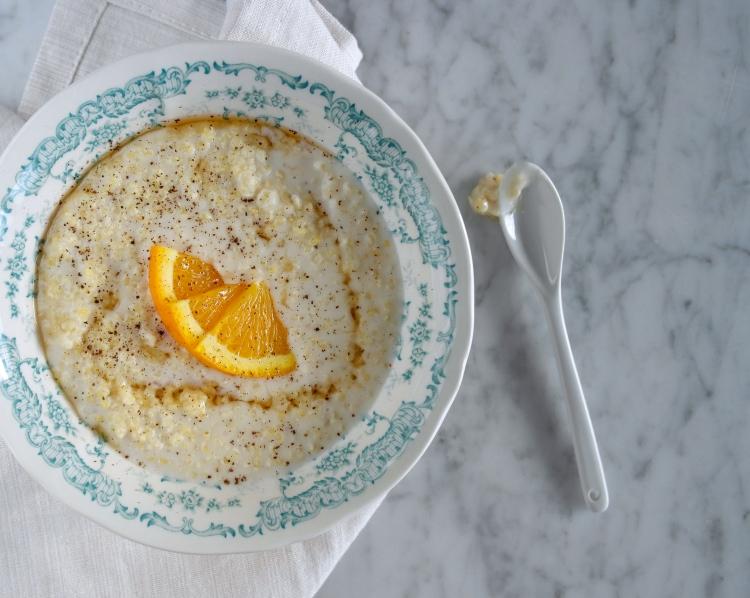 porridge miglio vaniglia