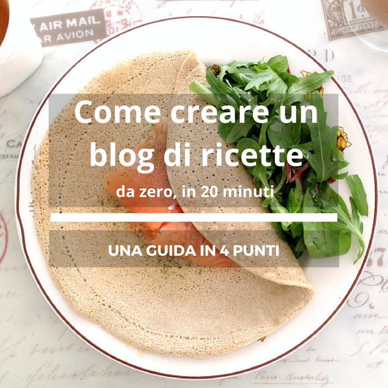 Come creare un blog di ricette da zero in 20 minuti