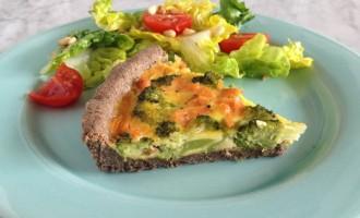 quiche grano saraceno salmone broccoli
