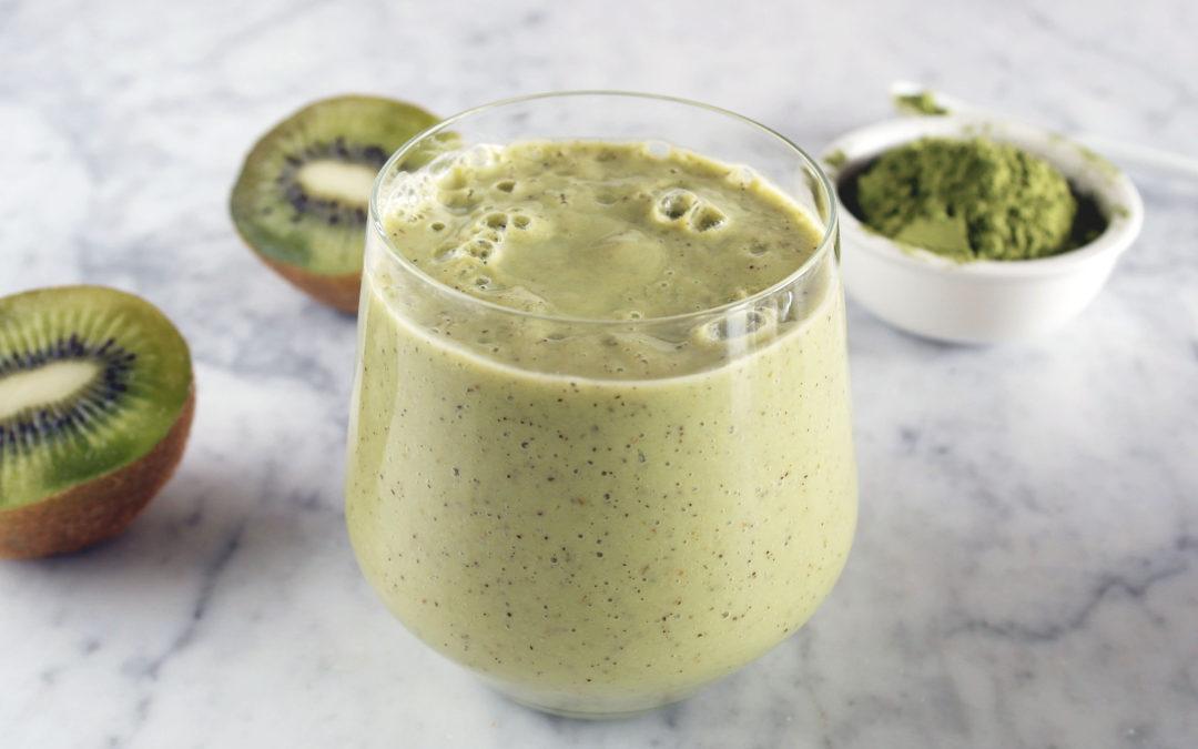Smoothie di kiwi e tè matcha