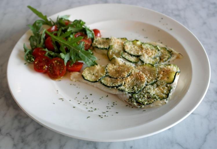 Platessa in crosta di zucchine