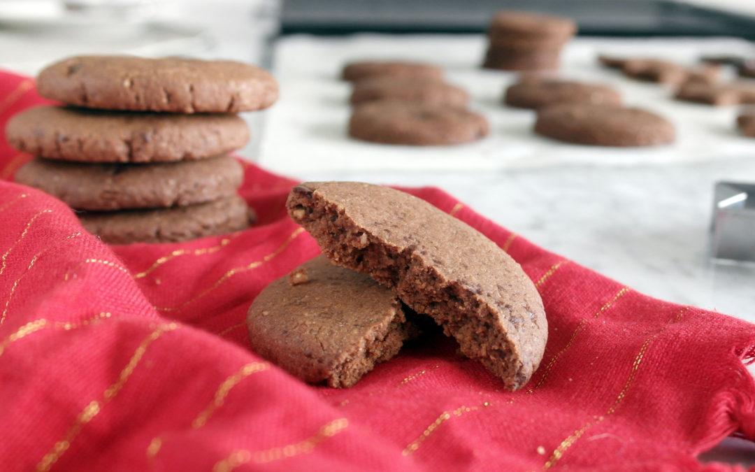Biscottini al cacao e nocciole