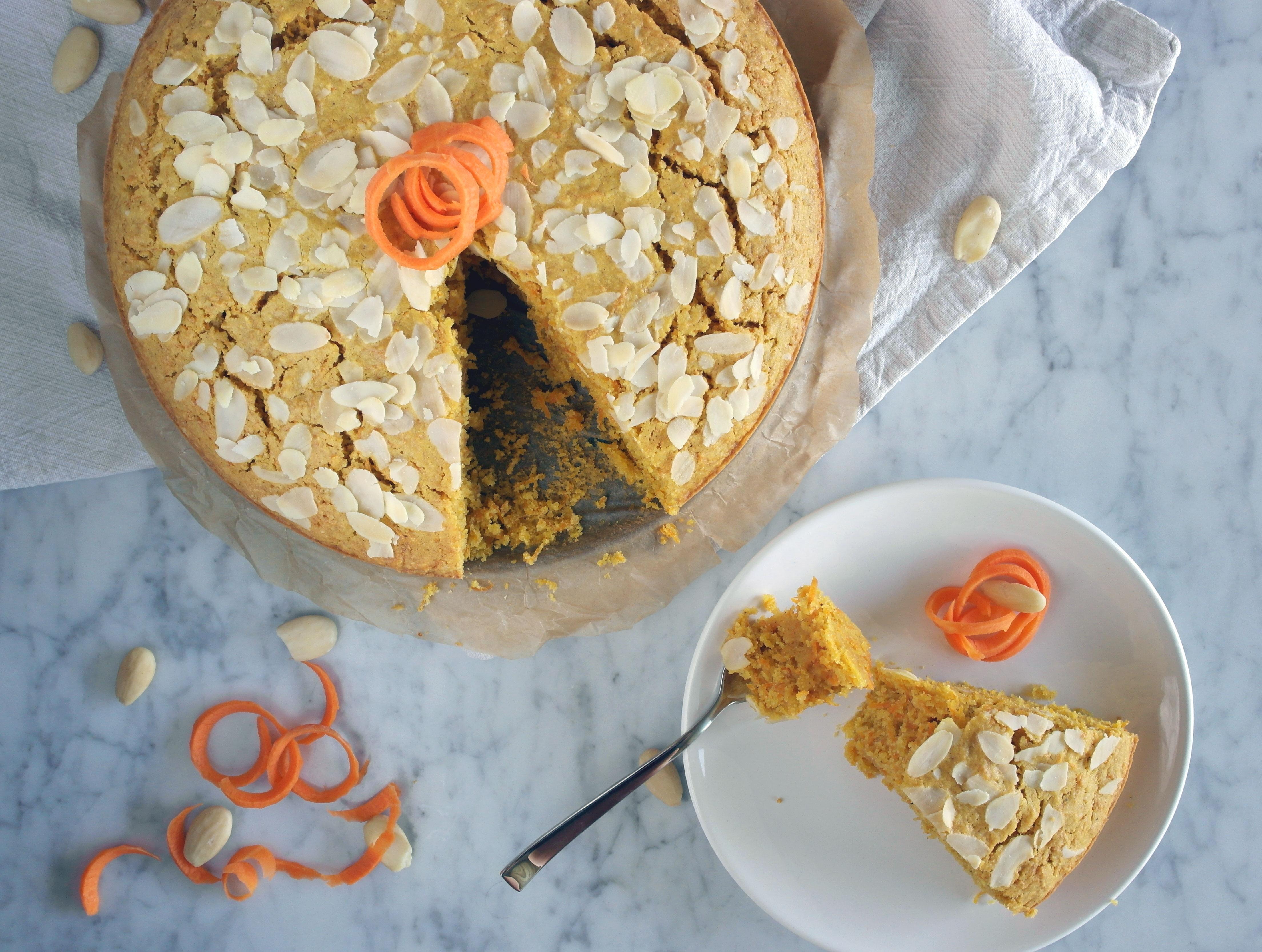 torta di carote senza glutine senza latticini low fodmap