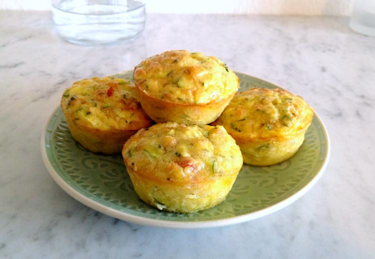 Muffin con zucchine e bacon