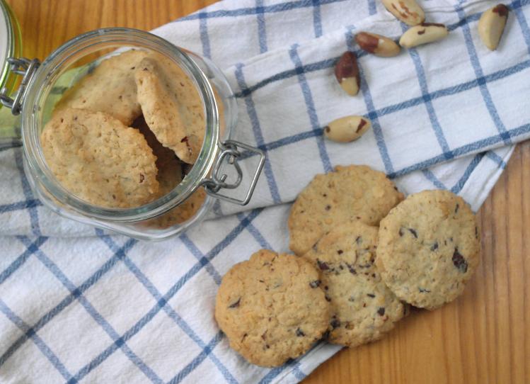 biscotti avena cioccolato noci brasiliane