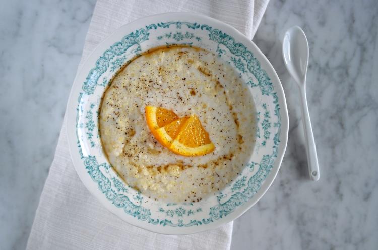 Porridge di miglio alla vaniglia