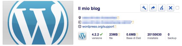 Il mio blog installatron