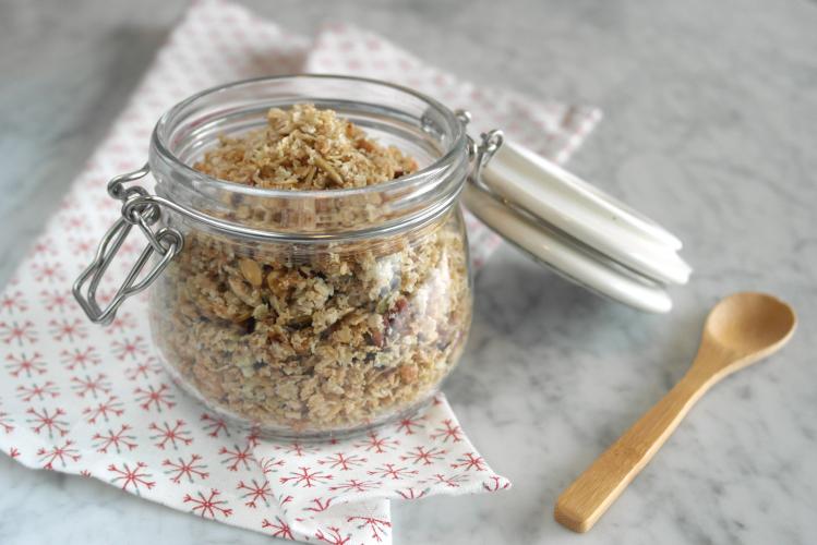 Muesli di grano saraceno e cocco