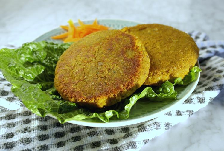 Vegan burger di lenticchie